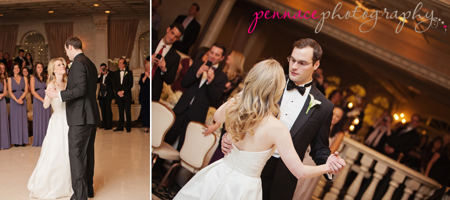 Bride and groom dance at Nanina's in the Park
