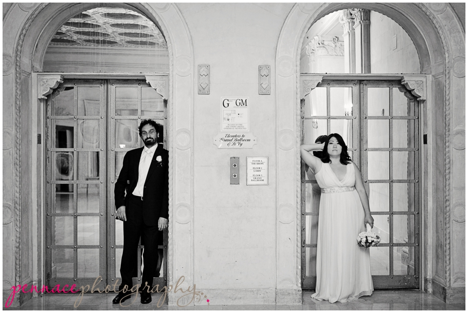 Bride and Groom at Plaza Hotel