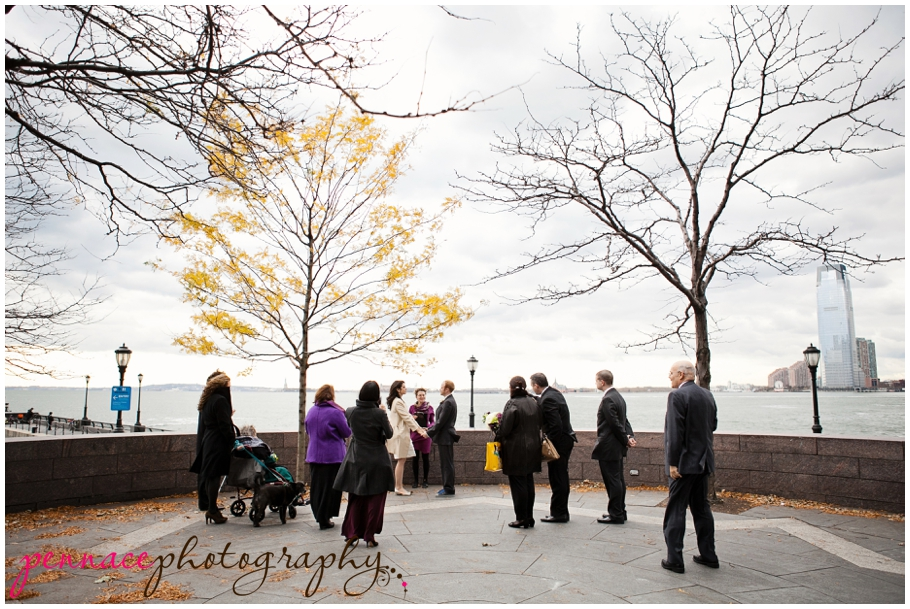 Intimate wedding in Battery Park