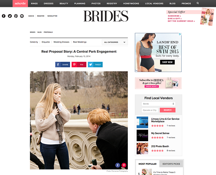 Proposal Photography in the Press