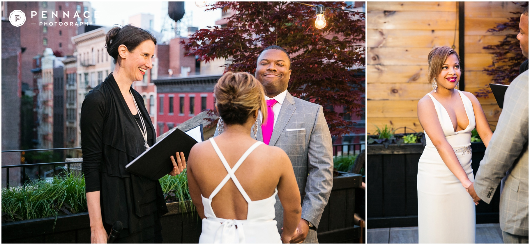 intimate NYC rooftop wedding