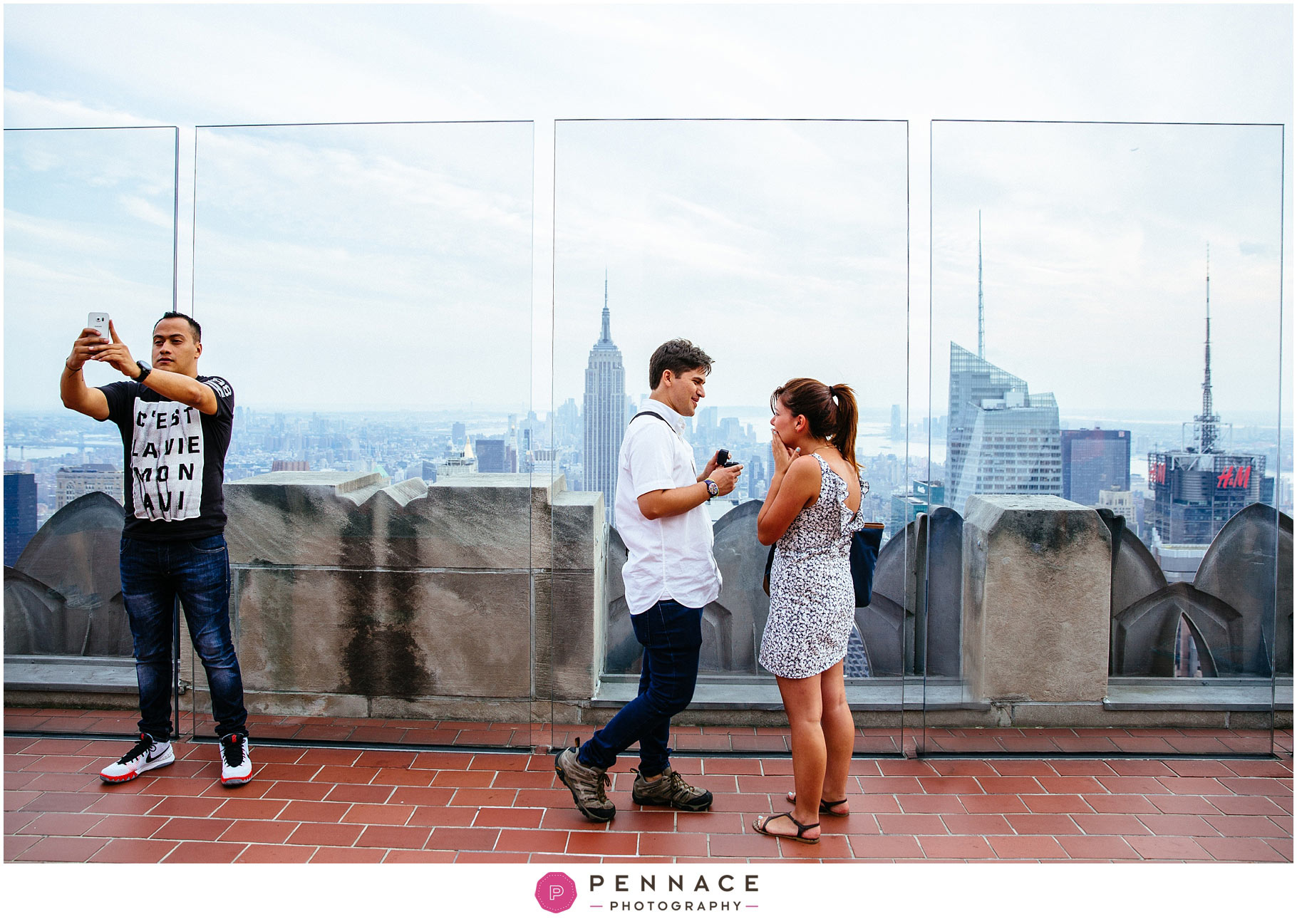 surprise engagement at top of the rock lina ivan teasers