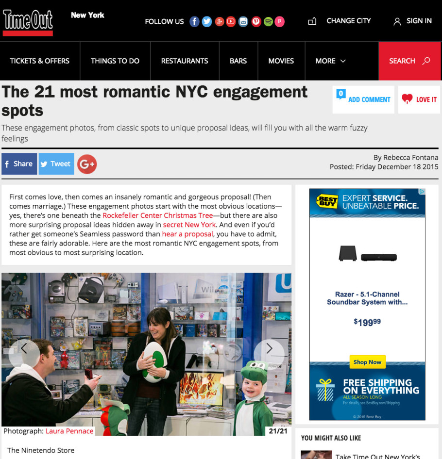 Proposals in Time Out New York