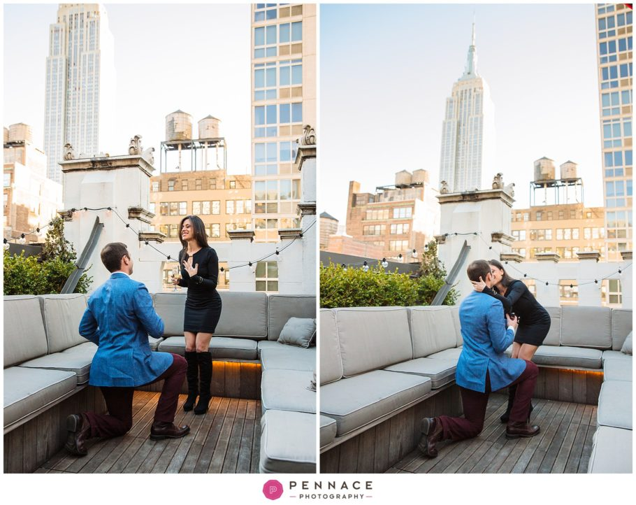 Rooftop Bar Marriage Proposal