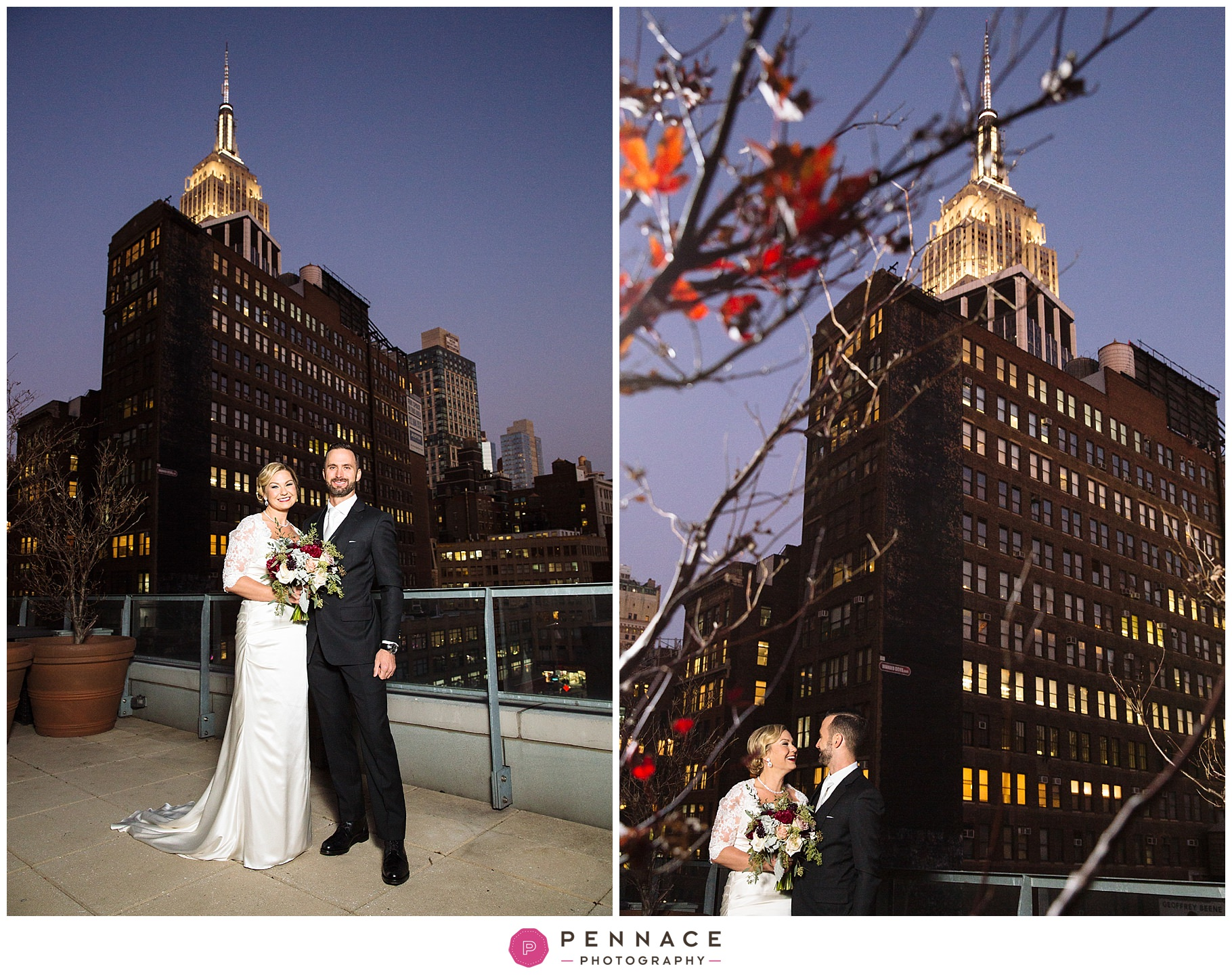Hotel wedding with Empire State Building