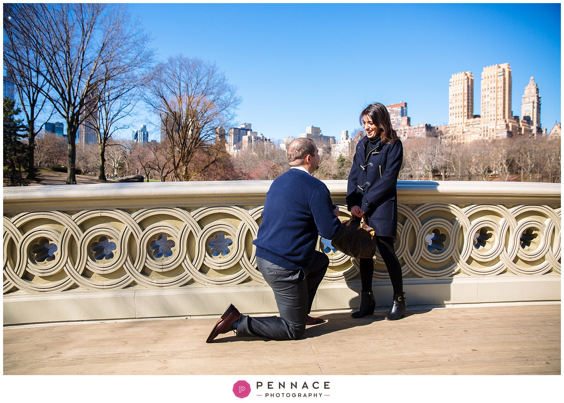 Marriage Proposal on Bow Bridge